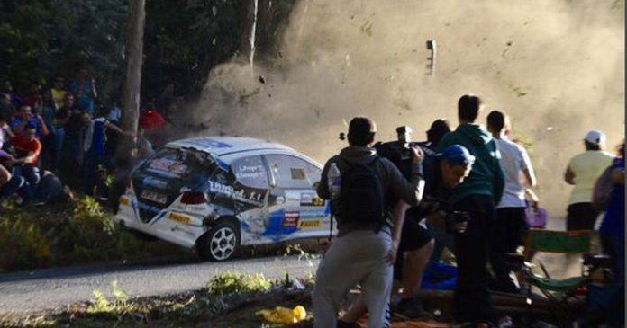 Rally crash in spain