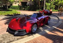 Red Rezvani Beast front view