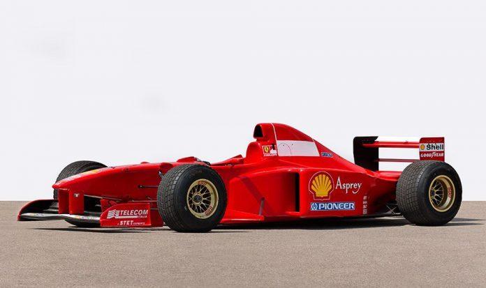 Michael Schumacher Ferrari F1 car being auction