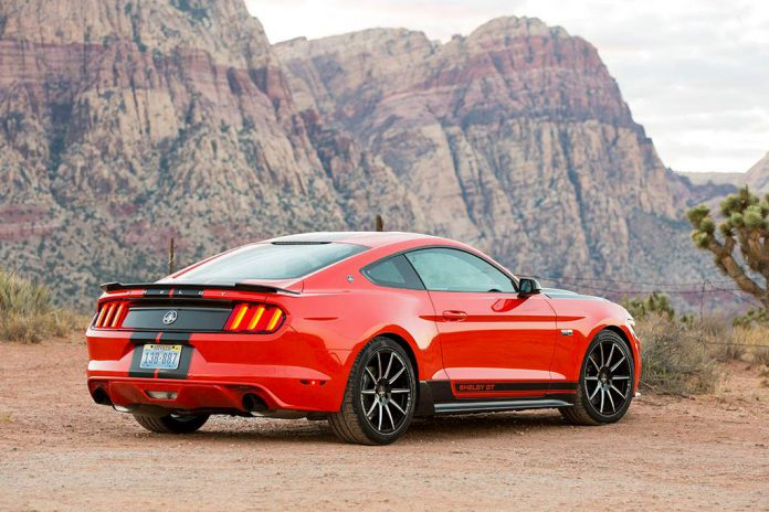 Shelby Mustang EcoBoost side rear