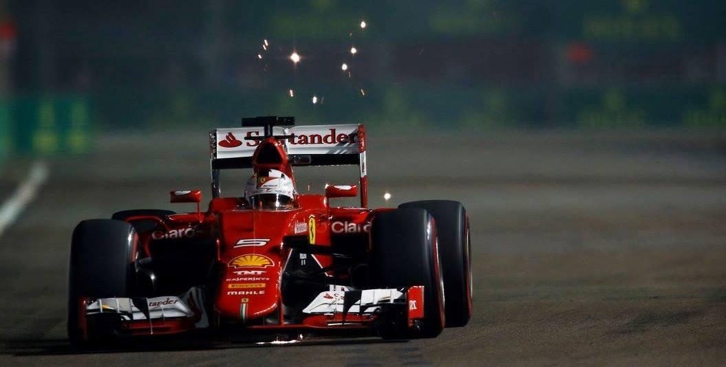 Sebastian Vettel qualifying Singapore GP
