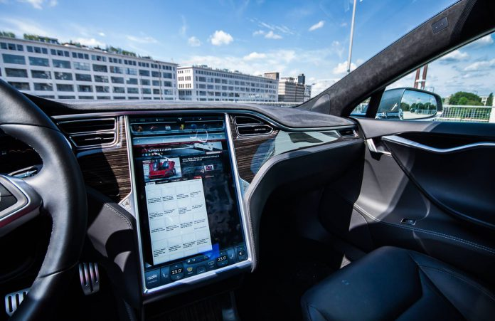 Tesla Model S interior screen