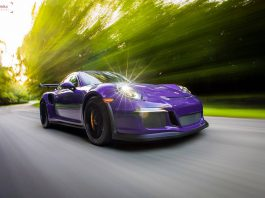 Ultraviolet Porsche 911 GT3 RS front