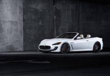 White Maserati GranCabrio MC
