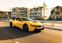 Yellow BMW i8