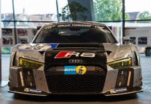 Audi R8 LMS in showroom front