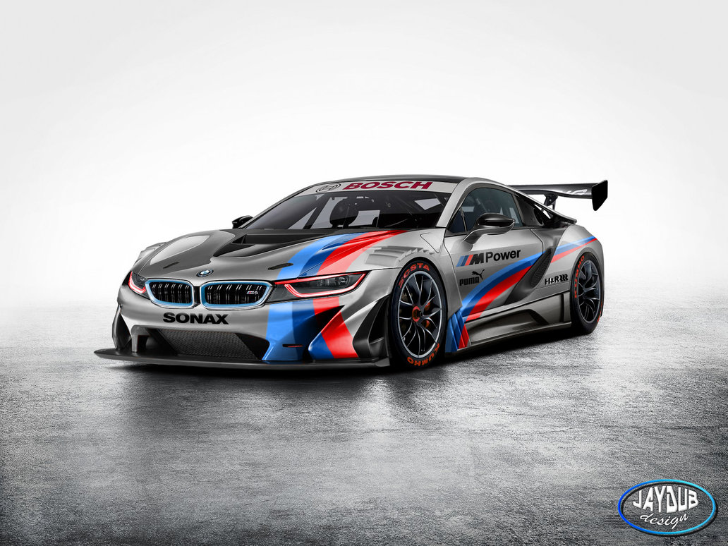 bmw i8 looks ferocious as gt3 racer gtspirit. Black Bedroom Furniture Sets. Home Design Ideas