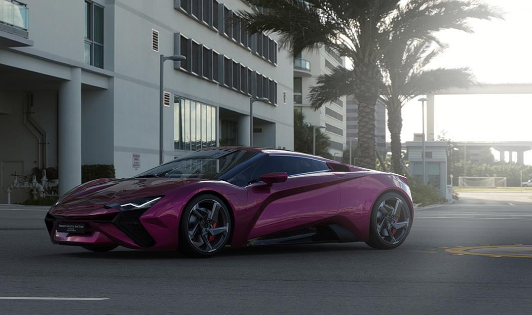 Purple Vensepto Concept Car