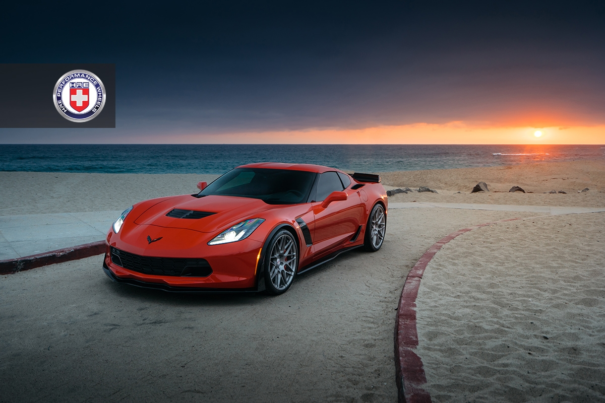 epic orange corvette z06 on hre wheels gtspirit. Black Bedroom Furniture Sets. Home Design Ideas
