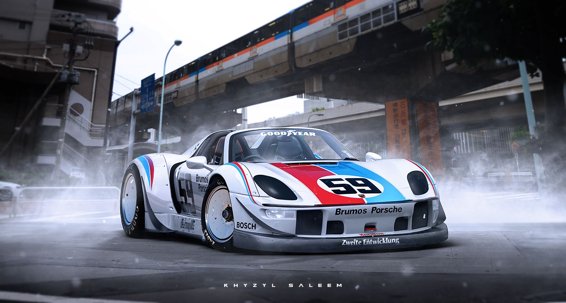 porsche 918 spyder rendered with rwb bodykit gtspirit. Black Bedroom Furniture Sets. Home Design Ideas