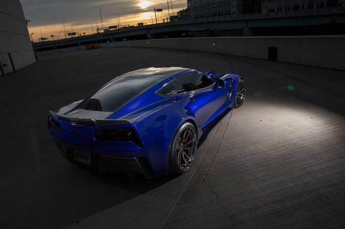 Blue Corvette C7