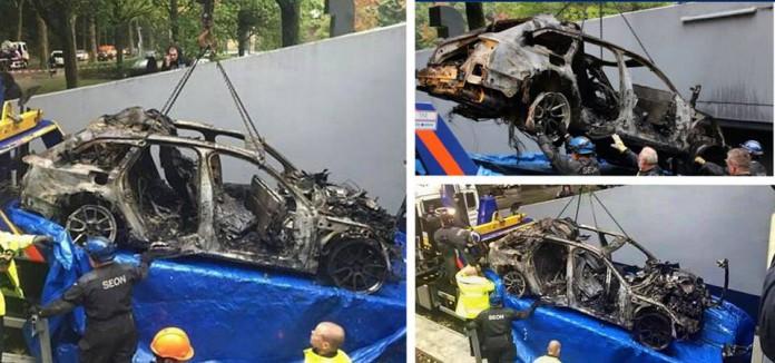 Jon Olsson Audi RS6 DTM burned