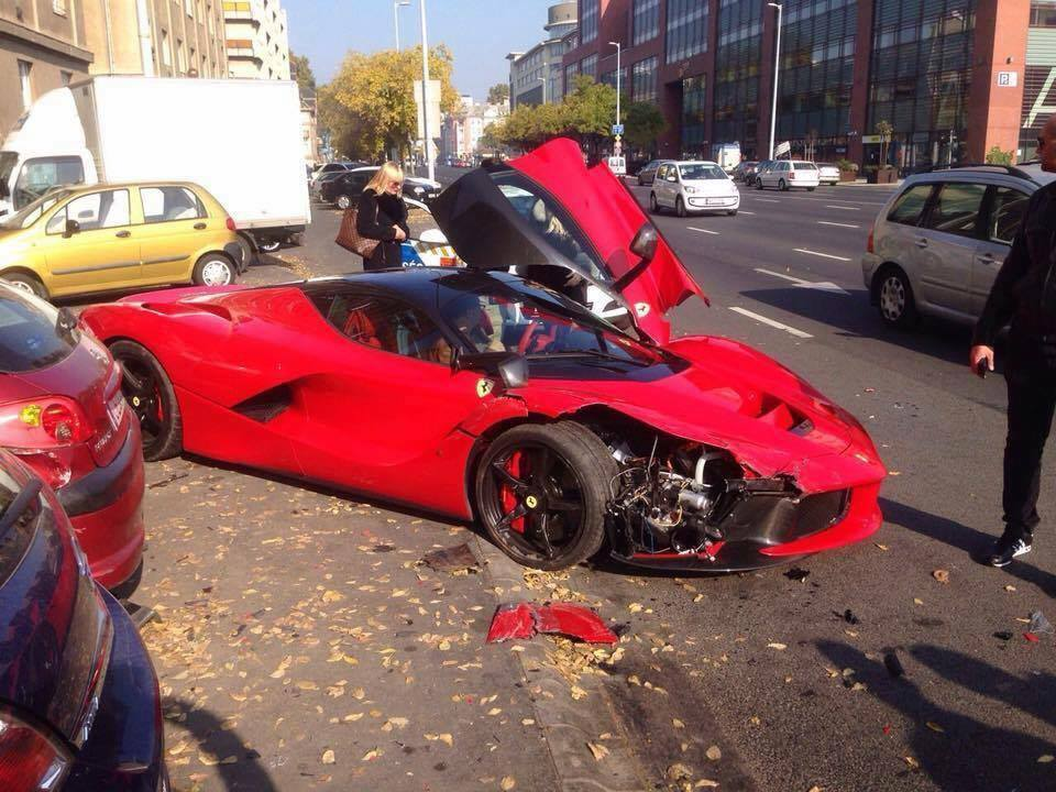 LaFerrari Crashes in Budapest