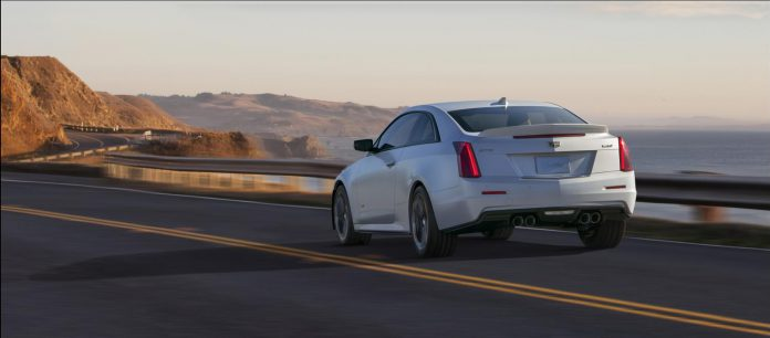 2016-Cadillac-ATS-V-Coupe rear