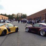 Audi R8 Liberty Walk and Nissan GT-R