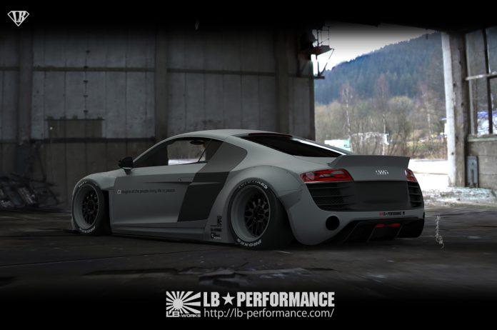 Liberty Walk Audi R8 rear