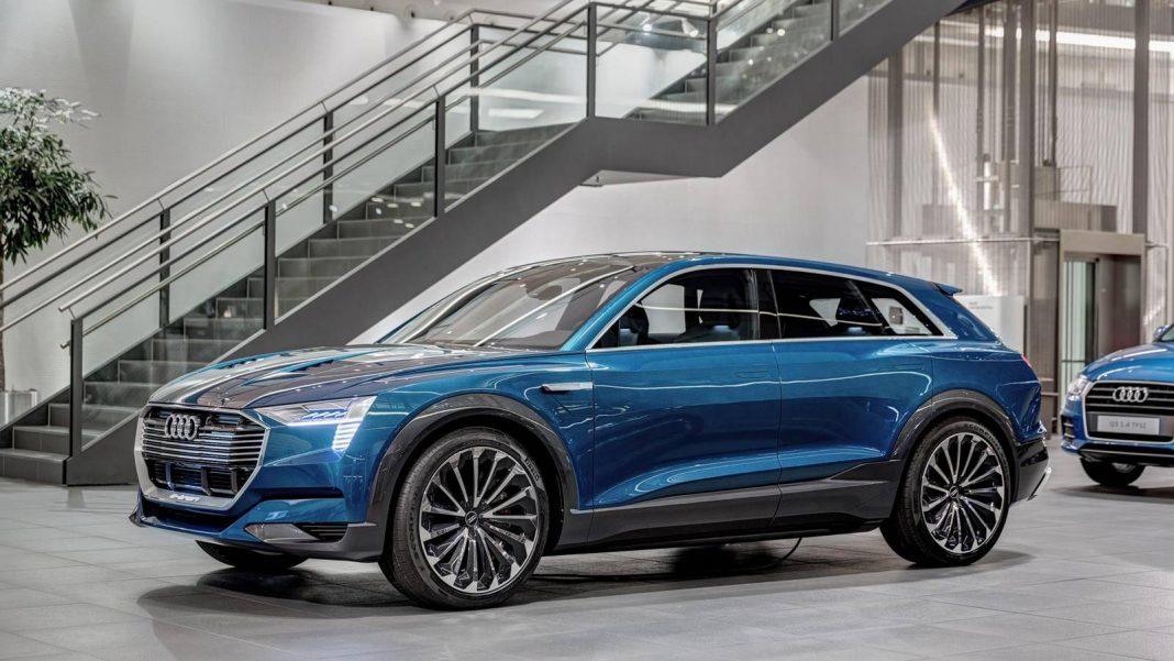 Blue Audi e-tron quattro Concept
