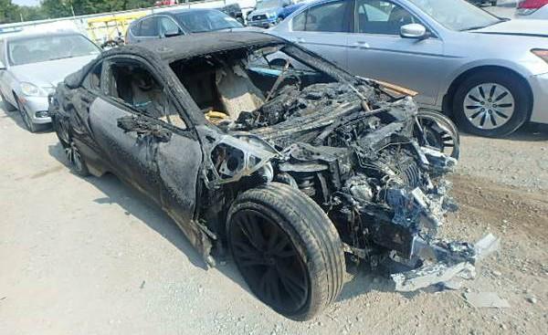 Burnt BMW i8 for sale