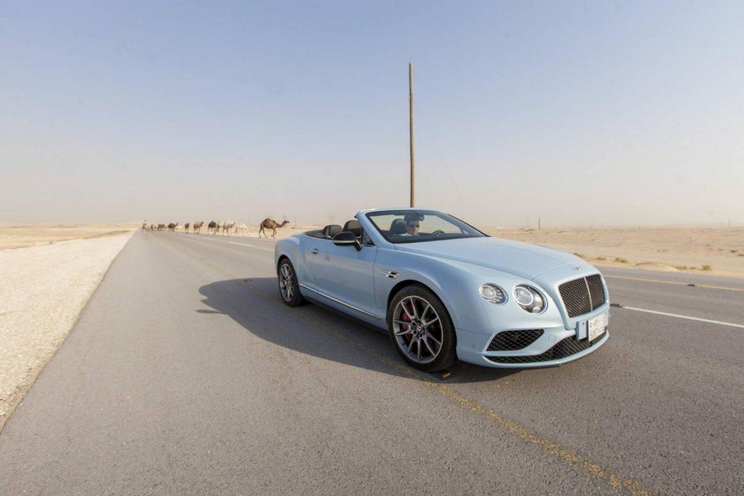 Bentley in the desert