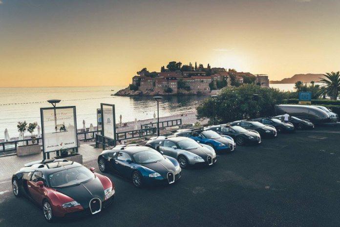 Bugatti Veyron line up