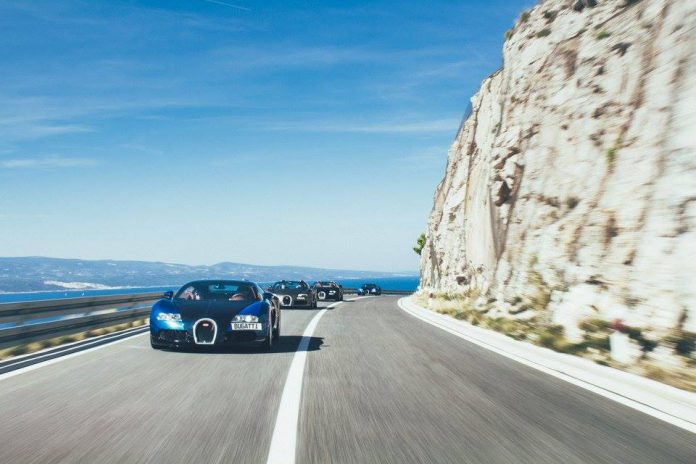 Bugatti Veyron road trip