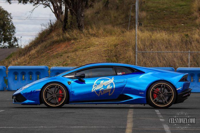 Chrome blue Lamborghini Huracan