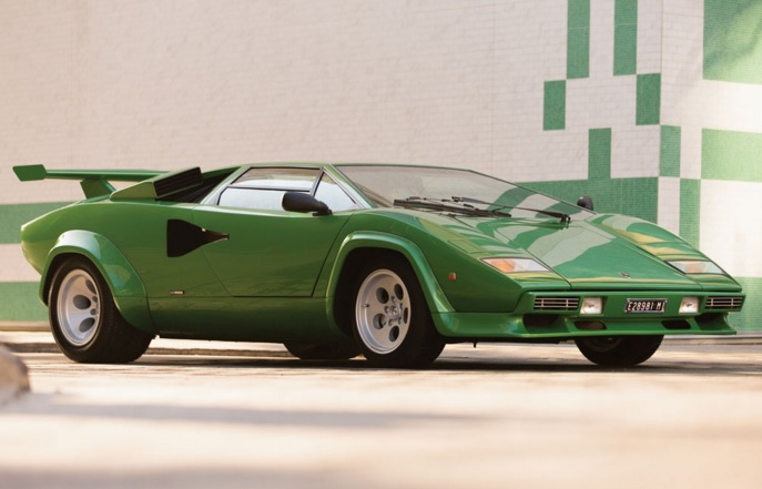 Bright Green Lamborghini Countach Heading To Auction