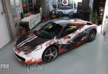 Custom wrapped Ferrari 458 Spider