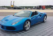 Blue Ferrari 488 Spider