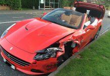 Ferrari California T crashes in Ireland