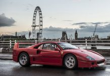 Ferrari F40 auction front