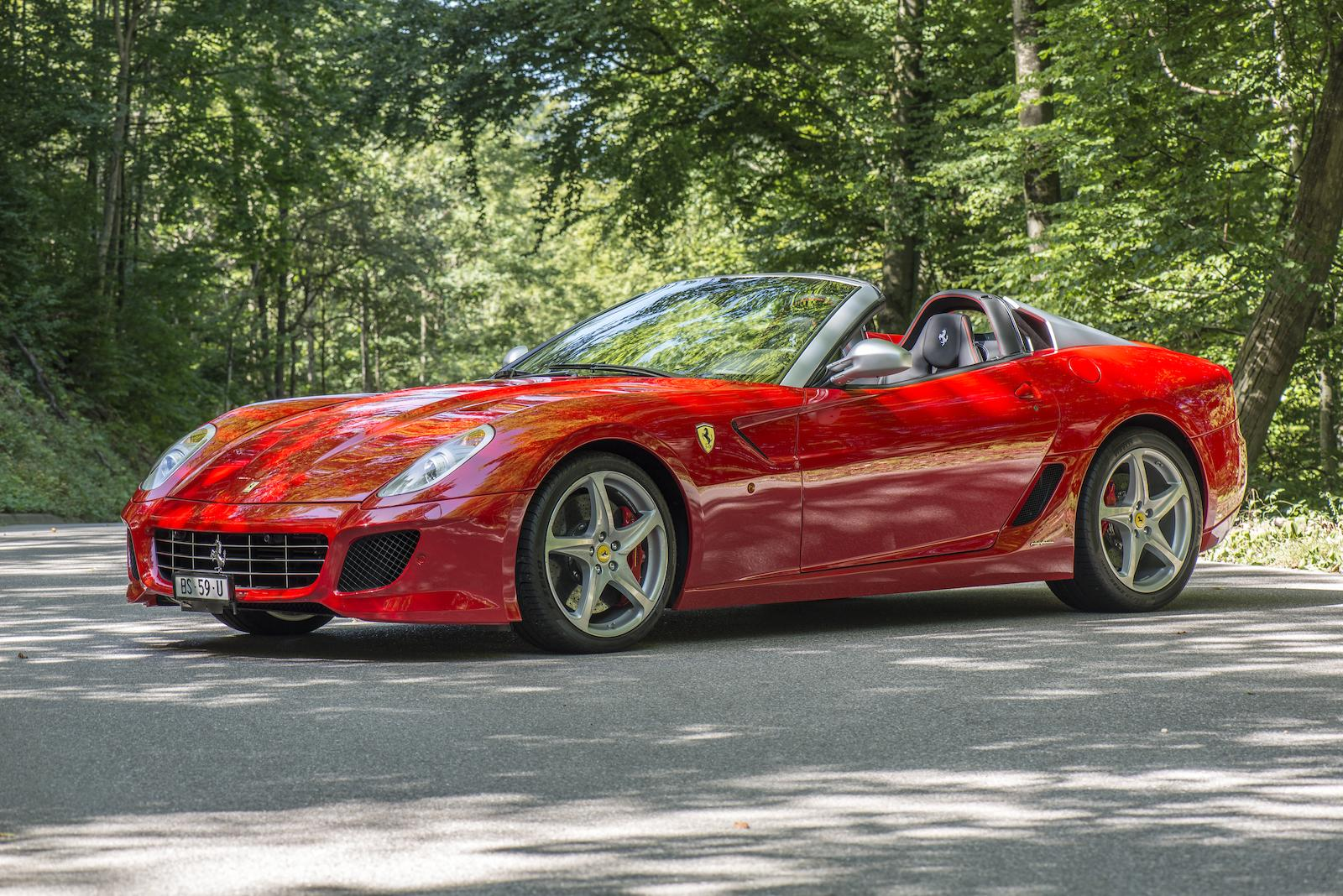 ferrari 599 sa aperta heading to auction gtspirit. Black Bedroom Furniture Sets. Home Design Ideas