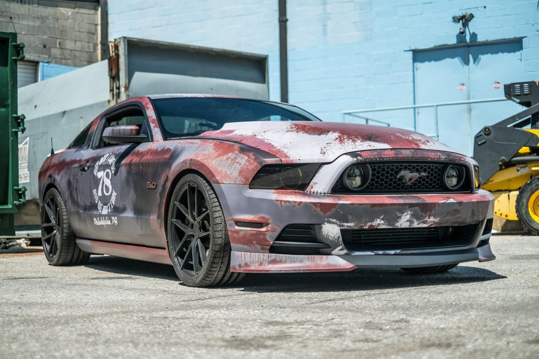 Crazy Rust Wrapped Ford Mustang In Maryland Gtspirit