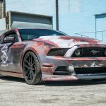 Rusty Ford Mustang wrap