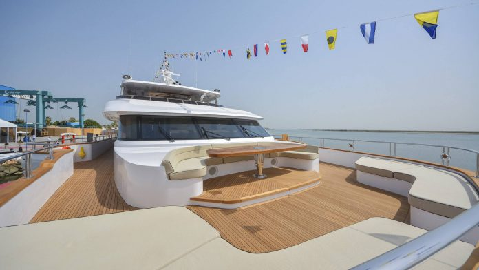 Majesty 155 Superyacht Forward Seating Area