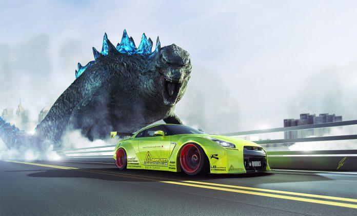 Godzilla and Nissan GT-R