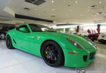 Green Ferrari 599 for sale