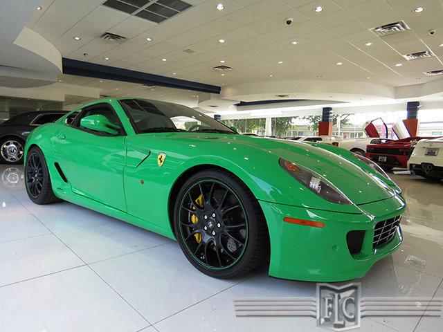 Green Ferrari 599 for sale