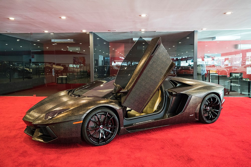crazy snake skin wrapped lamborghini aventador gtspirit. Black Bedroom Furniture Sets. Home Design Ideas