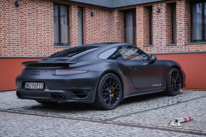 Blacked out Porsche 911 Turbo S