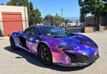 McLaren 650S Spider Galaxy wrap