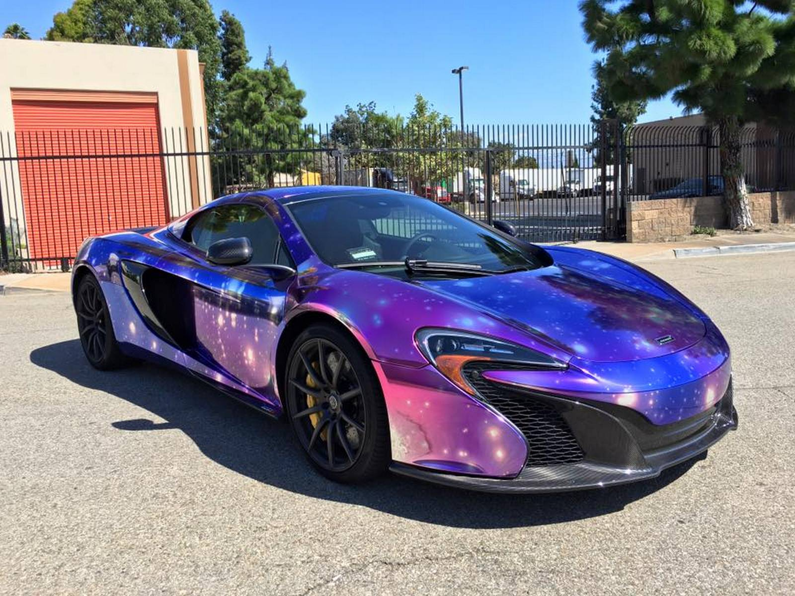 Mclaren 650s Spider Wrapped In Galaxy Chrome Gtspirit