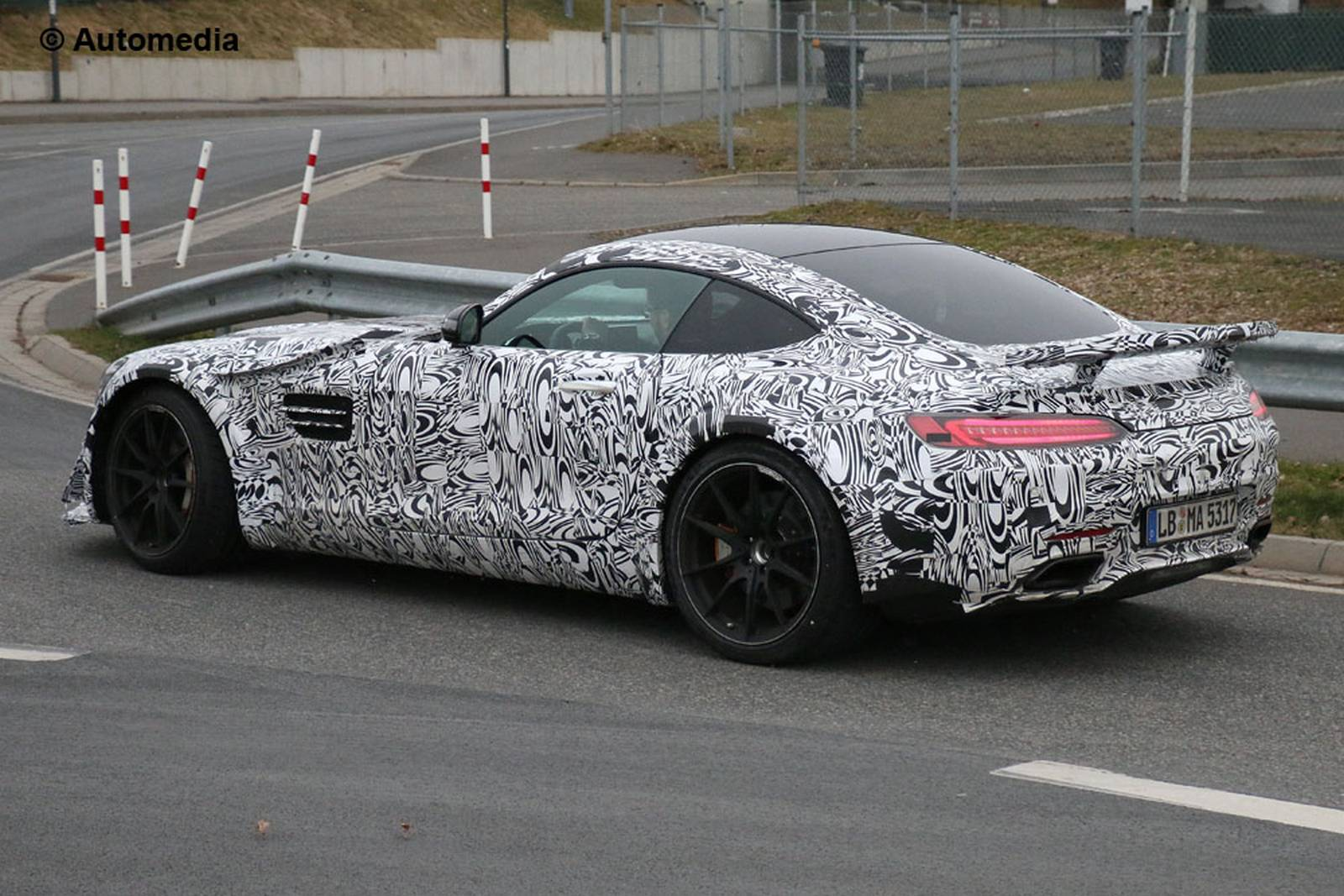 Mercedes-AMG GT3 road car testing spain