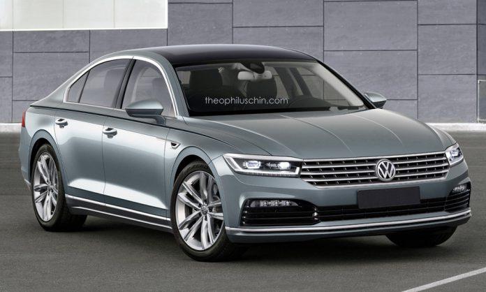Next-gen Volkswagen Phaeton front