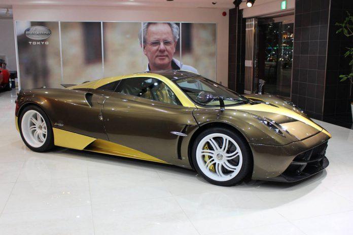 Pagani Huayra gold scheme