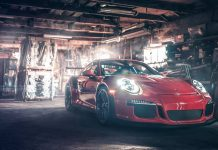 Porsche 911 GT3 RS photoshoot front