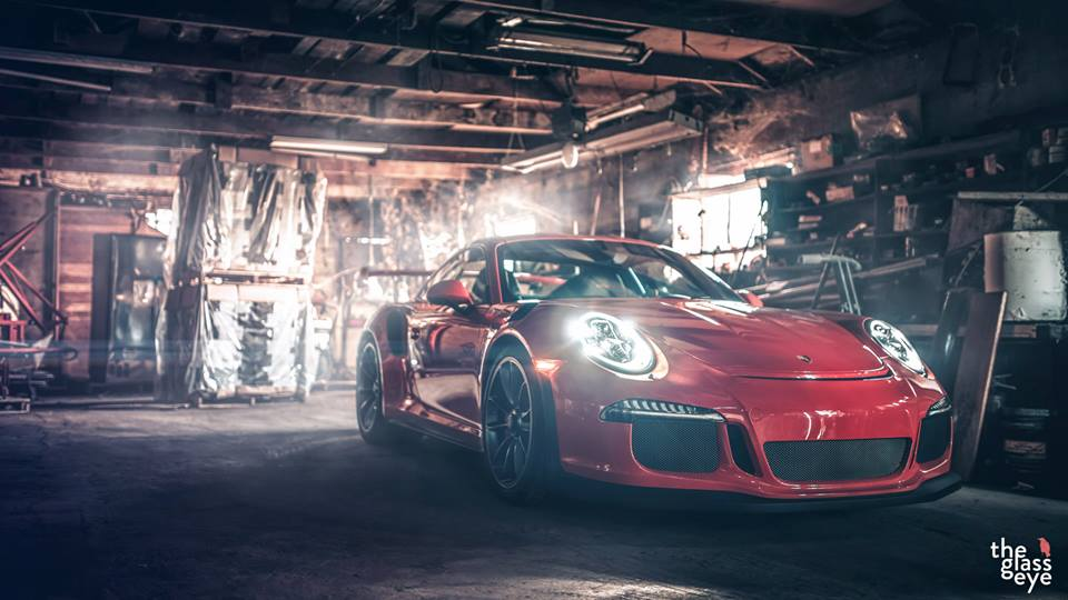 Porsche 911 GT3 RS photoshoot front
