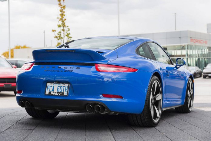 Blue Porsche 911 GTS Club Coupe