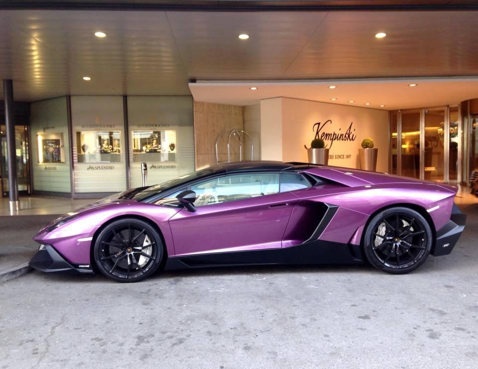 Purple Lamborghini Aventador 50th Anniversario