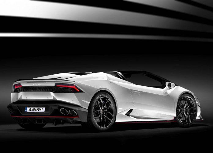 White Lamborghini Huracan Spyder Revozport